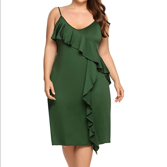 NWT PLUS SIZE Olive Green Dress!